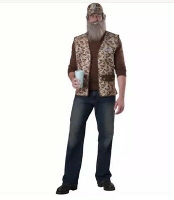Duck Dynasty Uncle Si Adult Halloween Costume, One Size Fits Most Adults