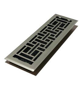 Satin Nickel 4 X 14 Contemporary Floor Register Cover