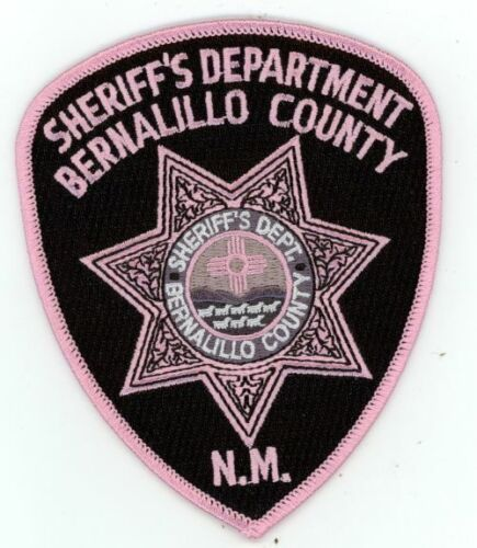 NEW MEXICO NM BERNALILLO COUNTY SHERIFF PINK CANCER AWARENESS NEW PATCH POLICE