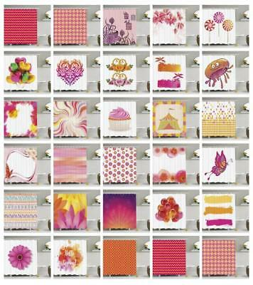 Orange and Pink Shower Curtain Fabric Bathroom Decor Set with Hooks 4 Sizes](Orange And Pink Decorations)