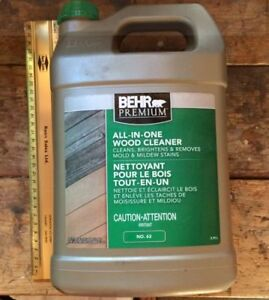 2 Wood Cleaners, 3.8 L  Behr NEW & partly used Super Deck