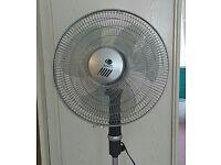 Free-standing electric fan