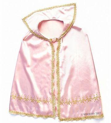 Prinzessinkostüm, Umhang f. Feen und Prinzessin rosa/gold  f. Kinder