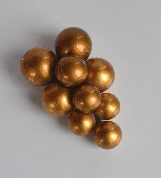 ART DECO huge grape DRESS FUR CLIP brass tone glaze coating on wood or plastic