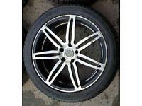 "Lenso 5x120 20"" Alloy Wheels & Tyres VW VOLKSWAGEN T5 T6 TRANSPORTER AMAROK"
