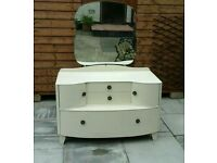 Up styled 3 pc bedroom set dressing table / tall boy wardrobe / chest of drawers