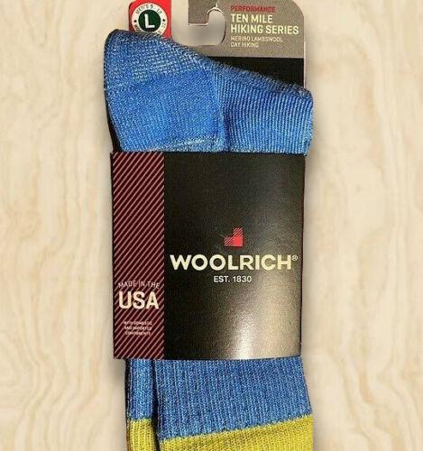 NWT Woolrich Sock Ten Mile Hiking Series Merino Lambswool Men 9-12 Womn 10.5-12