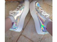 Holographic Shoes Women size 5