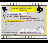 = Seeking Male Actors for SUMMER Short film in August