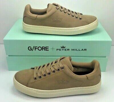 $185 G/Fore + Peter Millar Men's Size 10 Disruptor Leather Golf Shoe Khaki NEW