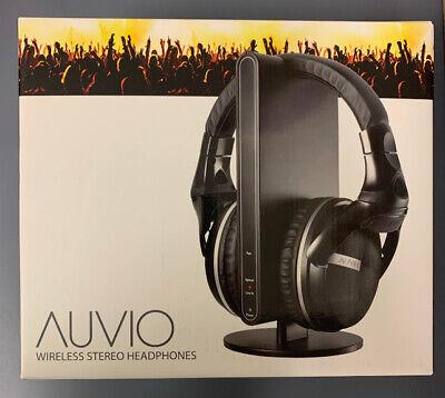 Auvio Wireless Stereo Headphones w/ Docking Station TV Audio 3301089