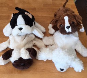 ADORABLE PLUSH PUPPY HAND PUPPETS IN EXCELLENT CONDITION!!