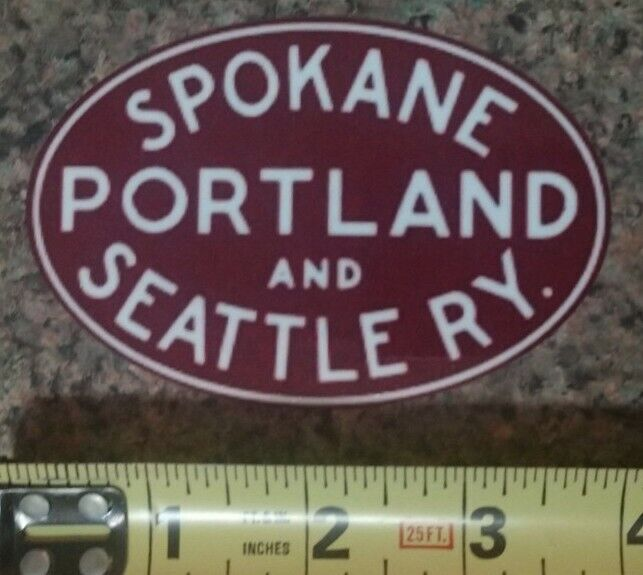 Spokane Portland and Seattle RY. Railroad Train Sticker Decal Quality Gloss NEW!
