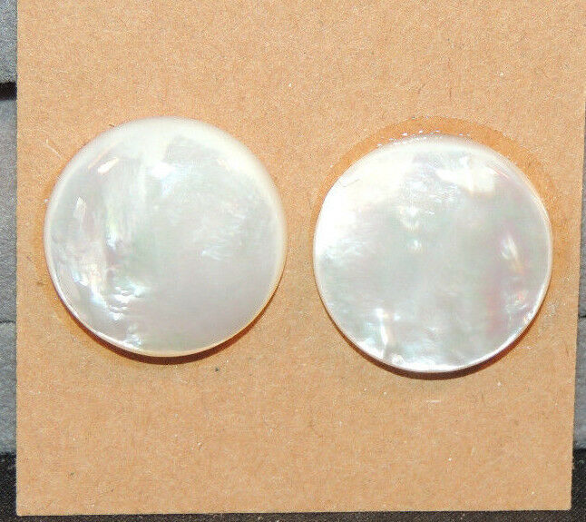 Mother of Pearl 18mm with 5mm dome Cabochons Set of 2 (10378)