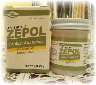 Zepol Topical Analgesic 1Oz Muscles  Joints  Backache  Strains  Bruises  Sprains