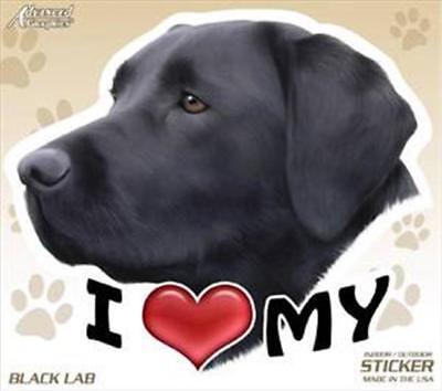 Set of 2 I Love My Black Lab Dog 4