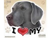 Life/'s Better With A Weimaraner Dog Car Fridge Plastic Magnet