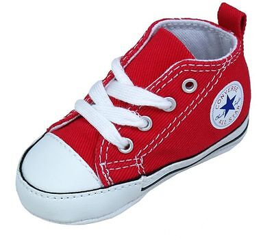 CONVERSE NEWBORN CRIB BOOTIES RED 88875 FIRST ALL STAR BABY SHOES SZ 1-4