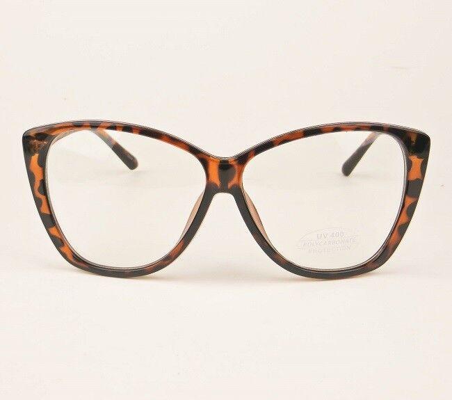 6fb58a30c06 ... Big XL Oversized Cat Eye WaYfe Fashion Clear Lens Large Eyeglasses  Frames 3208 L