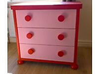 Ikea pink mammut chest of drawers