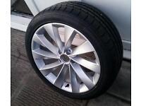 """Genuine 18"""" VW Scirocco Interlagos Alloy Passat CC Audi Seat Spare"""