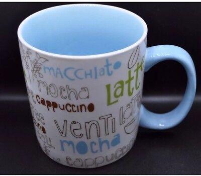 2007 Starbucks Limber Blue Cappuccino Americano Latte Mocha Coffee Mug