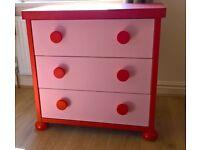 Ikea mammut pink chest of drawers