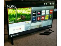 "LG 55"" Slim LED FULL HD SMART TV WITH BUILT IN WiFi FREEVIEW HD, 4X HDMI NEW CONDITION FULLY WORKING"