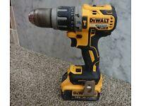 Dewalt 18v xr brushless combi drill +4ah battery
