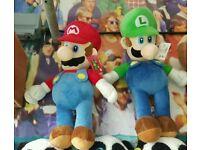 Pokemon and Mario merchandise