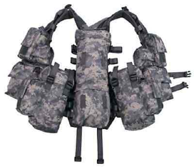 US ACU Tactical Combat Weste Army Gotcha Paintball Vest w 12 Taschen pouches ()