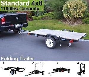 Utility Trailer - 4x8 |1180LBS-GVW | Us as a Flatdeck | Utility or Boat trailer | It folds for storage when done.