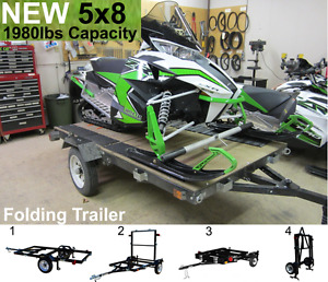 5x8 Brand New Folding Trailers - Vancouver