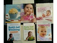 Selection of baby weaning books