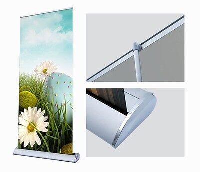 Retractable Scrolling Banner Stand - 33 Wide With Your Custom Print