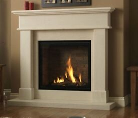 Gas Fire and Surround - Remote Controlled