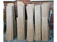 Brushed oak laminate flooring
