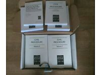 The white book civil procedure Volume 1 and 2 with all supplement 2016 edition