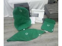 Bugaboo Cameleon Tailored Fleece Fabric 3 Piece Set In Green. Canopy,Apron,Seat