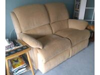 Matching 2 seater sofa and recliner arm chair