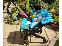 Doona Car Seat Stroller, folds into a car seat - fantastic bit of kit!!!