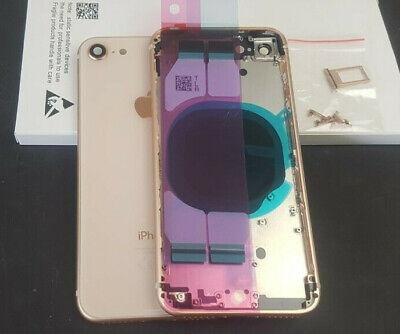 Gold Frame (Backcover für Original Apple iPhone 8 Gehäuse Rahmen Frame Akkudeckel Rose Gold )
