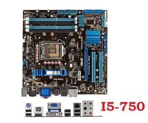 Motherboard ASUS P7H55-M PRO + i5-750 : 2.66 GHZ , HDMI: 75$