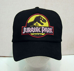 JURASSIC-PARK-Logo-Baseball-Cap-Hat-w-Patch