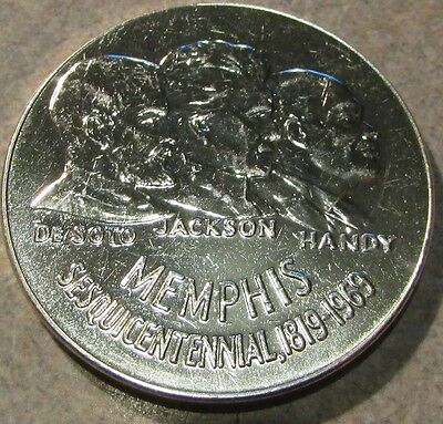 1969 Memphis, TN Sesquicentennial 90% 999 Fine Silver Round - 31.5g Tennessee