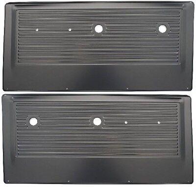 67-72 Chevy/GMC Pickup Truck Black Inner Interior Stamped Steel Door Panel PAIR ()