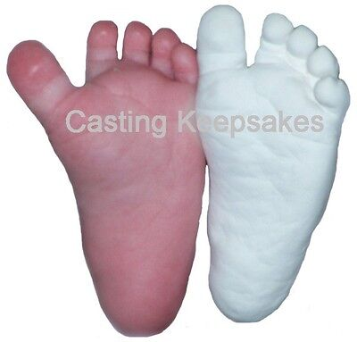 Luna Bean BABY PLASTER CASTING KIT 3D Statue Keepsake Foot Hand Mold w/ Finish