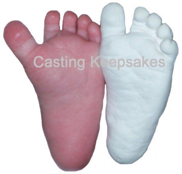 Luna Bean BABY PLASTER CASTING KIT 3D Statue Keepsake Foot Hand Mold w/ Finish