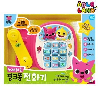 Pinkfong Singing Telephone Korean HANGUL Veision Play Toy For Baby Infant Kids