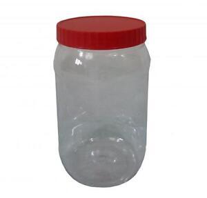 Sunpet 1500ml Red Top Plastic Food Kitchen Storage Canister Jar Co